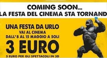 Festa del cinema, film a prezzi ridotti dall'8 al 15 maggio