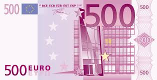 Banconota taglio 500 euro