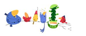 Felice Anno Nuovo Doodle Google