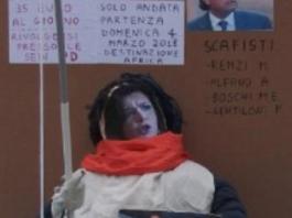 Lega brucia simulacro Laura Boldrini