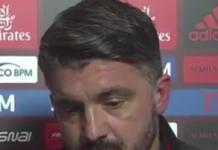 Rino Gattuso tecnico rossoneri
