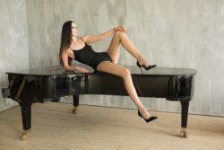 Ekaterina Lisina lunghezza gambe
