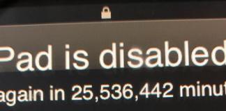 iPad bloccato