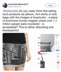 Museo Auschwitz vendita online vestiti sterminio